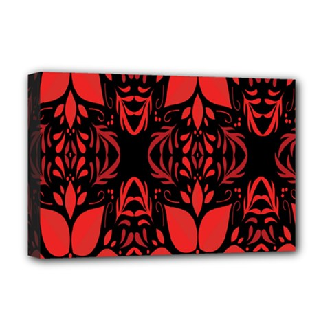 Christmas Red And Black Background Deluxe Canvas 18  X 12   by Sapixe