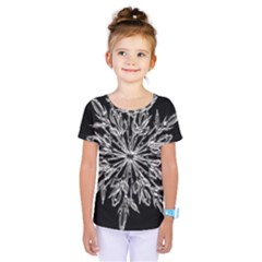 Ice Crystal Ice Form Frost Fabric Kids  One Piece Tee by Sapixe