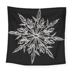 Ice Crystal Ice Form Frost Fabric Square Tapestry (large) by Sapixe