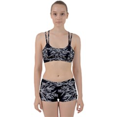 Ice Crystal Ice Form Frost Fabric Women s Sports Set
