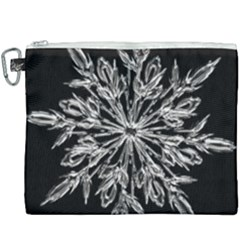Ice Crystal Ice Form Frost Fabric Canvas Cosmetic Bag (xxxl)