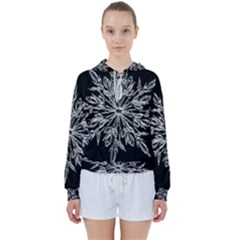Ice Crystal Ice Form Frost Fabric Women s Tie Up Sweat