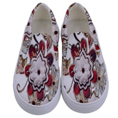Gems Gemstones Jewelry Jewel Kids  Canvas Slip Ons