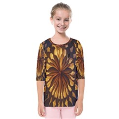 Light Star Lighting Lamp Kids  Quarter Sleeve Raglan Tee