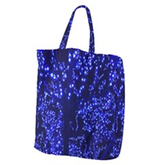Lights Blue Tree Night Glow Giant Grocery Zipper Tote