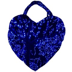Lights Blue Tree Night Glow Giant Heart Shaped Tote by Sapixe