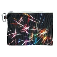 Lights Star Sky Graphic Night Canvas Cosmetic Bag (xl) by Sapixe