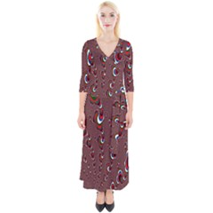 Mandelbrot Fractal Mathematics Art Quarter Sleeve Wrap Maxi Dress