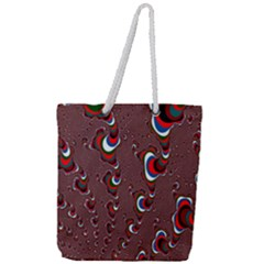 Mandelbrot Fractal Mathematics Art Full Print Rope Handle Tote (large) by Sapixe
