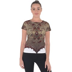 Jewelry Jewel Gem Gemstone Shine Short Sleeve Sports Top  by Sapixe