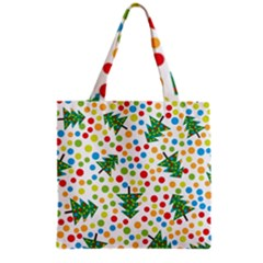 Pattern Circle Multi Color Grocery Tote Bag by Sapixe