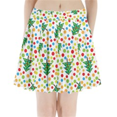 Pattern Circle Multi Color Pleated Mini Skirt