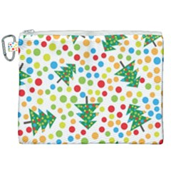 Pattern Circle Multi Color Canvas Cosmetic Bag (xxl) by Sapixe
