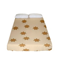 Pattern Gingerbread Star Fitted Sheet (full/ Double Size) by Sapixe