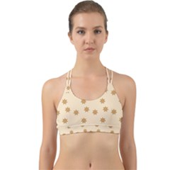 Pattern Gingerbread Star Back Web Sports Bra by Sapixe