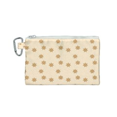 Pattern Gingerbread Star Canvas Cosmetic Bag (small) by Sapixe
