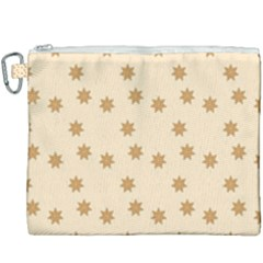 Pattern Gingerbread Star Canvas Cosmetic Bag (xxxl) by Sapixe