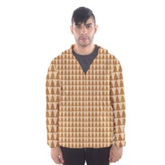 Pattern Gingerbread Brown Hooded Wind Breaker (men)