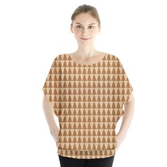 Pattern Gingerbread Brown Blouse