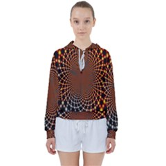 Pattern Texture Star Rings Women s Tie Up Sweat by Sapixe