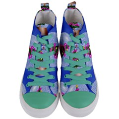 Seamless Repeat Repeating Pattern Art Women s Mid Top Canvas Sneakers