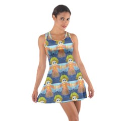 Seamless Repeat Repeating Pattern Cotton Racerback Dress