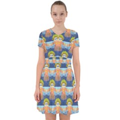 Seamless Repeat Repeating Pattern Adorable In Chiffon Dress by Sapixe