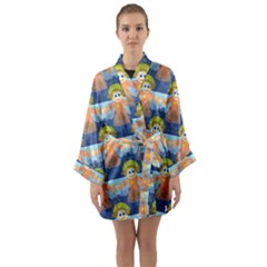 Seamless Repeat Repeating Pattern Long Sleeve Kimono Robe