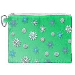 Snowflakes Winter Christmas Overlay Canvas Cosmetic Bag (xxl) by Sapixe