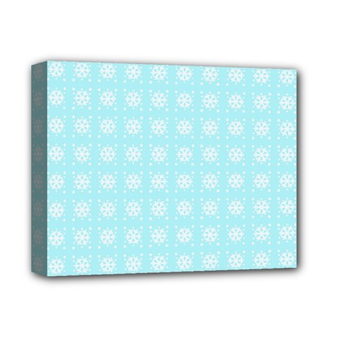 Snowflakes Paper Christmas Paper Deluxe Canvas 14  X 11