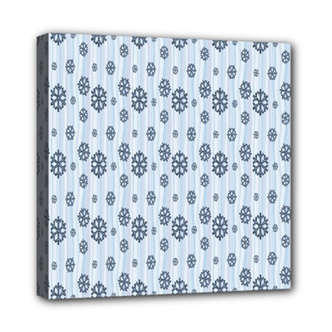 Snowflakes Winter Christmas Card Multi Function Bag