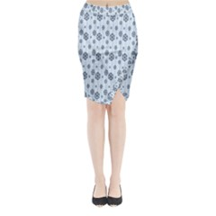 Snowflakes Winter Christmas Card Midi Wrap Pencil Skirt