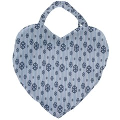 Snowflakes Winter Christmas Card Giant Heart Shaped Tote by Sapixe