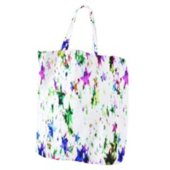 Star Abstract Advent Christmas Giant Grocery Zipper Tote