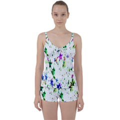 Star Abstract Advent Christmas Tie Front Two Piece Tankini