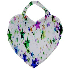 Star Abstract Advent Christmas Giant Heart Shaped Tote by Sapixe