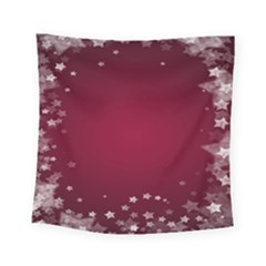 Star Background Christmas Red Square Tapestry (small)
