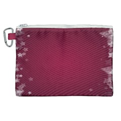 Star Background Christmas Red Canvas Cosmetic Bag (xl) by Sapixe