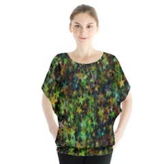 Star Abstract Advent Christmas Blouse