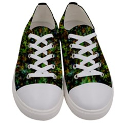 Star Abstract Advent Christmas Women s Low Top Canvas Sneakers