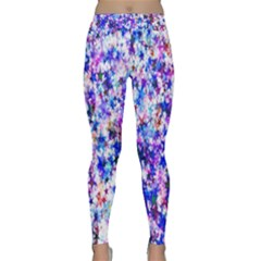 Star Abstract Advent Christmas Classic Yoga Leggings by Sapixe