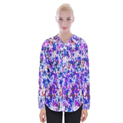Star Abstract Advent Christmas Womens Long Sleeve Shirt