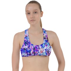 Star Abstract Advent Christmas Criss Cross Racerback Sports Bra