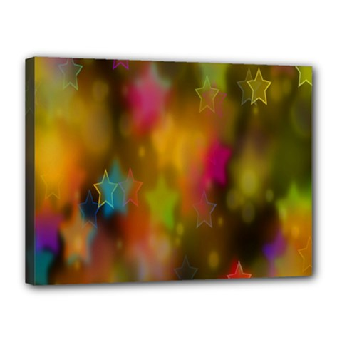 Star Background Texture Pattern Canvas 16  X 12  by Sapixe