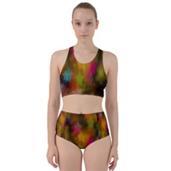 Star Background Texture Pattern Racer Back Bikini Set by Sapixe