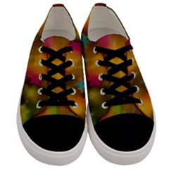Star Background Texture Pattern Men s Low Top Canvas Sneakers