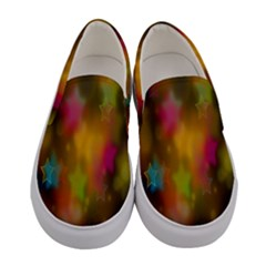 Star Background Texture Pattern Women s Canvas Slip Ons