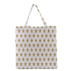 Star Background Gold White Grocery Tote Bag by Sapixe