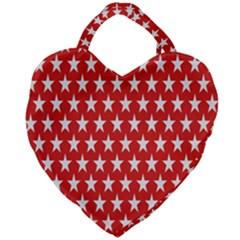 Star Christmas Advent Structure Giant Heart Shaped Tote