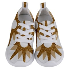 Star Golden Glittering Yellow Rays Kids  Lightweight Sports Shoes